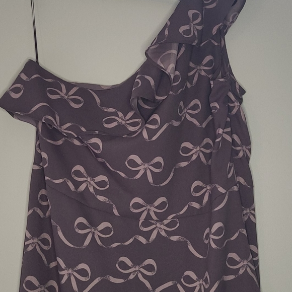 Banana Republic Bow Print One Shoulder Dress NWT